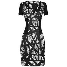 Maxime Simoens Stretch Crepe Dress (5,010 PEN) ❤ liked on Polyvore featuring dresses, short sleeve dress, maxime simoens dress, maxime simoens, v neck dress and vneck dress