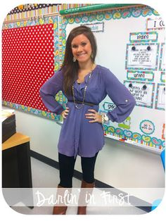 belted tunic with leggings and boots