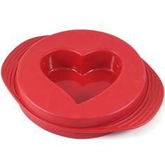 ORKA RED SILICONE REVERSIBLE HEART CAKE PAN  Product Description  The Orka brand is one associated with quality and reliability. An acronym for Outstanding Revolutionary Kitchen Accessories, Orka has once again pleased all with this red silicone cake pan. Created in the shape of a heart, the reversible nature of the pan can be used to make heart shaped cakes, round cakes with heart shaped centers, and round cakes with heart shaped centerpieces.