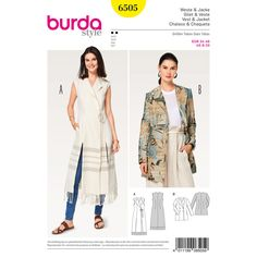 Misses' casual fringed vest/waistcoat with long slits and wide lapels, tied with a cord.