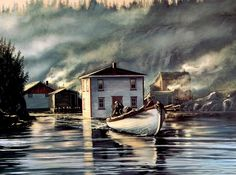 Beautiful Newfoundland art captured by artist Ian Sparkes Newfoundland Canada, Newfoundland And Labrador, Boat Painting, Artist Painting, Watercolor Paintings, Canadian Painters, Canadian Artists, Parts Of The Earth, Atlantic Canada