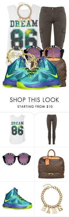 """• Shoutout to the 213 •"" by threadsbykeiko ❤ liked on Polyvore featuring MICHAEL Michael Kors, House of Holland, Louis Vuitton, Stussy, NIKE and H&M"