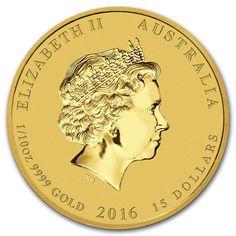 Moneda Año Lunar del Mono 2016 Oro 1/10 oz Reverse