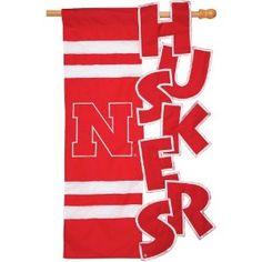 Evergreen Enterprises Nebraska Cornhuskers Applique Sculpted House Flag