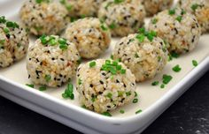 Brilliant! Sushi balls (for those of us to lazy to learn how to make sushi rolls)