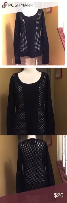 YOKI All Black see though & Sweater size 2XL 😘😘 Title says it All😘😘 Gorgeous sweater for more curvy ladies. This sweater is stylish and can be paired with any and everything . Size is 2XL. It is in very good condition. Rich deep black color. 😘😘 Make  me an offer 😘 Yoki Sweaters Crew & Scoop Necks