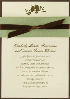Owl wedding invitations.