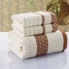 Unihome (3pcs/Lot) Bath Towel Set 70cm*140cm & 2*33cm*75cm 100% cotton towel bath towel piece set face towel wholesale