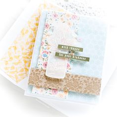 I seem to be having a phase of revisiting white heat embossing on vellum recently. The combination of the two, for me, gives a soft, elegant addition to any project be it for a sentiment strip or in this case a focal point to accent the most beautiful patterned papers. I've linked all supplies at the end of this post. Compensated affiliate links used. I was swooning over the Bo Bunny Early Bird papers in the August Simon Says Stamp Card Kit and knew I wanted to use those as a key element on…