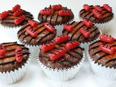 Mrs. Fox's Sweets: Grill Brownie Cupcakes