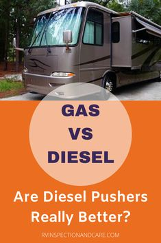 Are diesel pushers really better than gas RVs? Which kind of motorhome is best for your RV travels? Some say diesel pusher motorhomes are the only way to go. Others say that choosing a gas powered RV is smarter and better overall. Find out the pros and cons of each as a certified RV inspector explains what you need to know to make the right decision for your RVing adventures. #dieselpusher #motorhome #gasser #rvliving #fulltimerv #rvtips #rvtravel #rvcamping #rvinspectionandcare Motorhome Living, Motorhome Travels, Rv Travel, Travel Destinations, Best Rv Parks, Class A Rv, Buying An Rv, Rv Tips, Rv Hacks