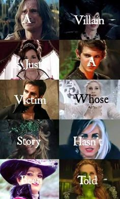 If you can't read this it says A villain is just a victim whose story hasn't been told