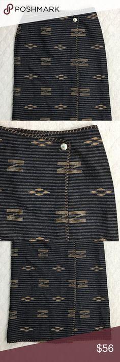 Vintage Lauren Ralph Lauren Native Print Skirt Vintage Lauren Ralph Lauren Skirt in excellent condition! Southwest / Native American Print. Wrap Style & 100% Wool. Blanket stitch edges. See last 2 pics for minor flaws. Lauren Ralph Lauren Skirts Maxi