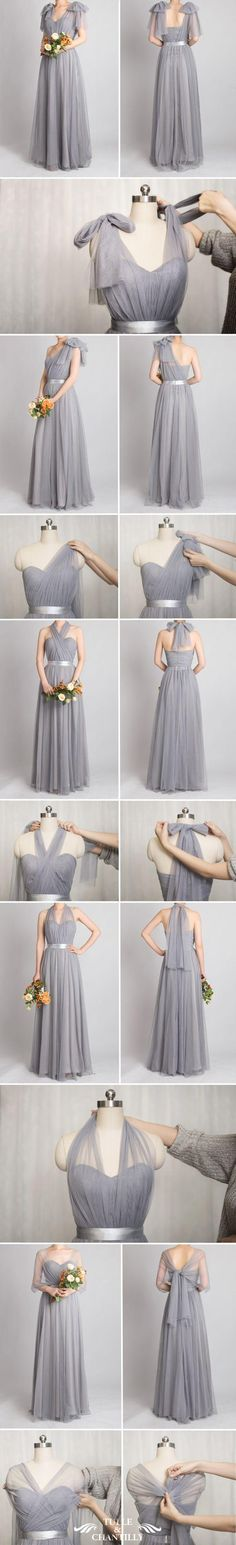 Nicole Miller Bridesmaid Dresses Long Tulle Convertible Grey Bridesmaid Dresses For Adult Ruched Bodice Women Sexy Wedding Guests Dress Belt Vestido De Festa De Casamento Bridal Bridesmaid Dresses From Adminonline, $98.42| Dhgate.Com