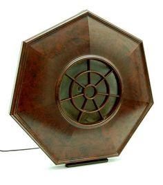 Bakelieten Philite staande luidspreker Philips 2109 uitvoering Philips Eindhoven ca.1930