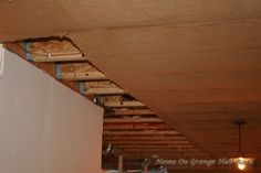 burlap covered ceiling - Google Search