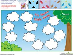 Free Fly Home Little Birds printable game.