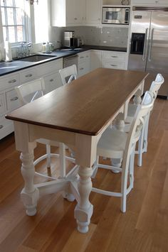 Narrow kitchen islands for small kitchens: long narrow kitchen island table, Long Narrow Kitchen, Narrow Kitchen Island, Kitchen Island With Seating, Small Island, Eat At Kitchen Island, Granite Kitchen, Island Bar, Small Kitchen Islands, Mobile Kitchen Island