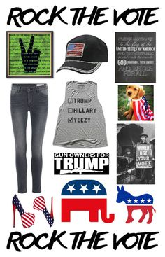 """""""#RockTheVote"""" by mastequilas ❤ liked on Polyvore featuring Trump Home"""
