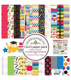 Doodlebug Back To School Paper Pack 12