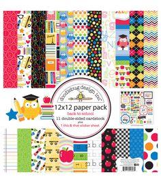 Doodlebug Back To School Paper Pack 12