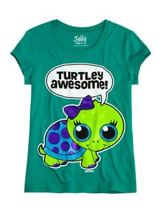 Awesome Turtle Graphic Tee | Girls Animals Graphic Tees | Shop Justice