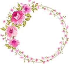 Discover recipes, home ideas, style inspiration and other ideas to try. Frame Floral, Flower Frame, Flower Art, Diy And Crafts, Paper Crafts, Borders And Frames, Floral Border, Border Design, Watercolor Flowers