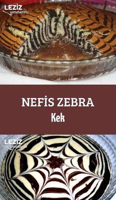 Nefis Zebra Kek – Leziz Yemeklerim – Food for Healty Subway Cookie Recipes, East Dessert Recipes, Chocolate, Box Cake Recipes, Turkish Recipes, Confectionery, No Bake Desserts, Food Cakes, Food And Drink