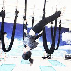 "At the Yoga Fly associated Studio ""Yoga & Me"""