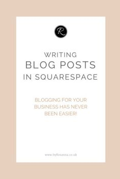Blogging has never been easier! [Squarespace tutorial]