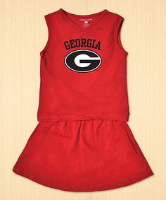 Look at this #zulilyfind! College Kids Everyday Georgia Bulldogs Top & Skirt - Toddler & Girls by College Kids Everyday #zulilyfinds