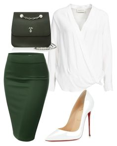 """""""Untitled #363"""" by sikarjazmin on Polyvore featuring By Malene Birger, J.TOMSON, Christian Louboutin, Mark Cross, women's clothing, women, female, woman, misses and juniors"""