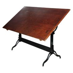 6 ft. Hamilton Architects Adjustable Drafting Table | From a unique collection of antique and modern industrial and work tables at http://www.1stdibs.com/furniture/tables/industrial-work-tables/
