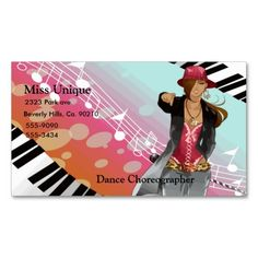 school of dance ballerina ballet dancers in pink business card