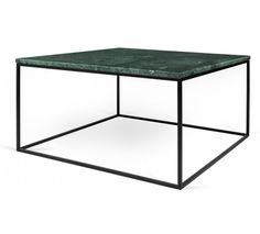 Temahome Gleam Sofabord - Grøn marmor, sort stel 75 cm Green Marble, Marble Top, White Marble, Large Table, Small Tables, Table Height, Wood Species, Minimalist Design, Steel