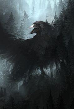 The Crow God by ourlak.deviantart.com on @deviantART