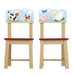 Guidecraft Farm Friends Extra Chairs (Set of 2)