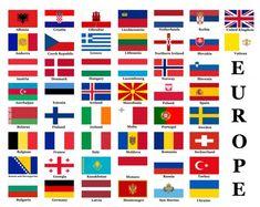 Bandeiras dos países europeus — Imagem de Stock