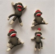 Dress it up buttons Mushroom Houses shank backed novelty craft sewing quilting