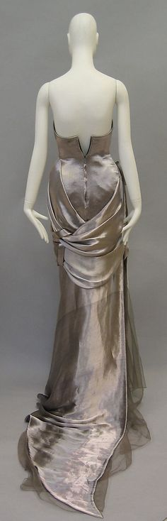 Dress, Evening  House of Ricci  (French, founded 1932)  Designer: Olivier Theyskens (Belgian, born 1977) Date: spring/summer 2008 Culture: French Medium: metallic, silk, synthetic