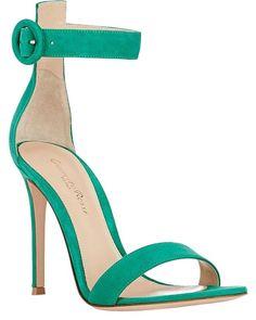 Gianvito Rossi Green Portofino Open Toe Suede Strap Sandals Size EU 40  (Approx. US 10) Regular (M 61c1ca6a5