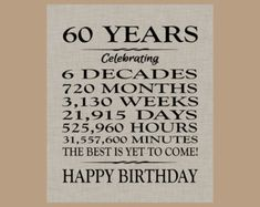 Trendy Birthday Party Decorations For Women Decor 60th Birthday Ideas For Dad, 60th Birthday Cards, Mom Birthday Gift, Birthday Party Themes, Funny 60th Birthday Quotes, Diy 60th Birthday Party Decorations, 60th Birthday Cupcakes, Birthday Posters, Parties Decorations
