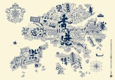CREATIVE©ITIES invited 10 City Illustrators to create a graphical ©MAP of each city. This is Hong Kong by FUNDAMENTAL!