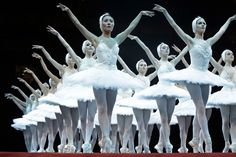The English National Ballet troupe performs during a pre-show at the artistic gymnastics women's individual all-around competition at the 2012 Summer Olympics in London. (AP)