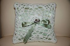 Have a beautifully crocheted bridal celebration. For an elegant wedding, this pillow is perfect for your ring bearer to bring down the aisle. (LionBrand.com)