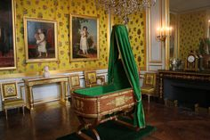 Chateau de Fontainbleau, berceau du roi de Rome. Napoleon's son's bedchamber