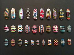 tribal nails by the Illustrated Nail Get Nails, Fancy Nails, How To Do Nails, Pretty Nails, Hair And Nails, Crazy Nails, Tribal Nail Designs, Tribal Nails, Nail Art Designs