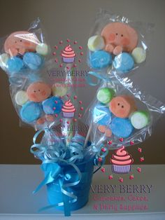 Marshmallow+Pops+for+Baby+Shower | Posted by Veryberry Cupcakes at 5:50 PM