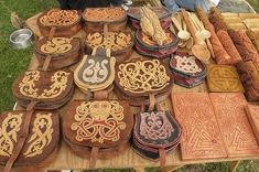 Viking leather bags and craft ... wow, that is awesome.
