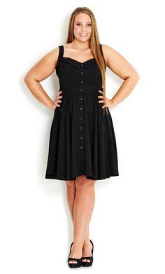 City Chic - BUTTONED UP DRESS - Women's plus size fashion